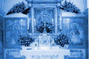 Interior of the Church of San Lorenzo in the village of Corigliano