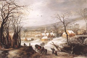 Joos de Momper, 'Winter landscape' (1620), Private collection